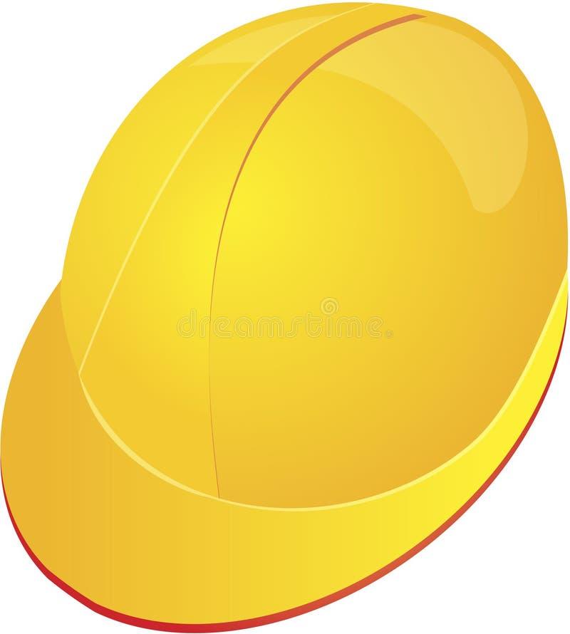Capacete do chapéu duro no amarelo ilustração stock