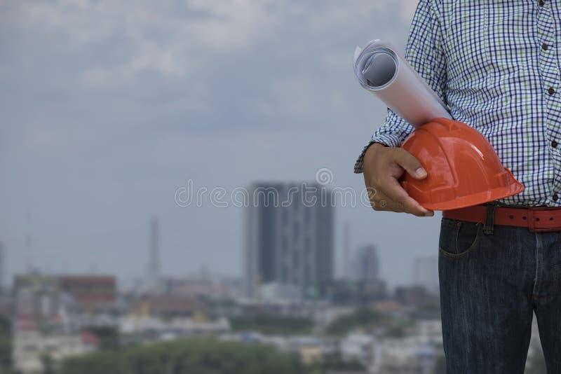 Capacete do coordenador para a segurança dos trabalhadores fotografia de stock royalty free