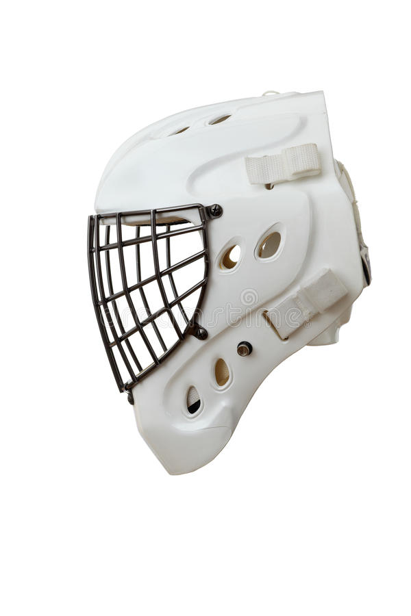 Capacete do Goalie do hóquei foto de stock royalty free