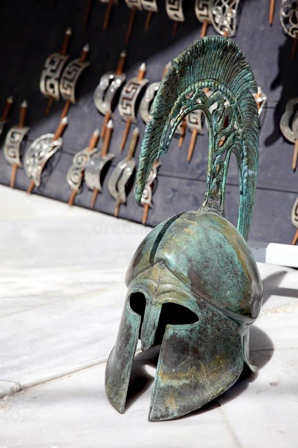 Capacete do grego clássico. imagem de stock
