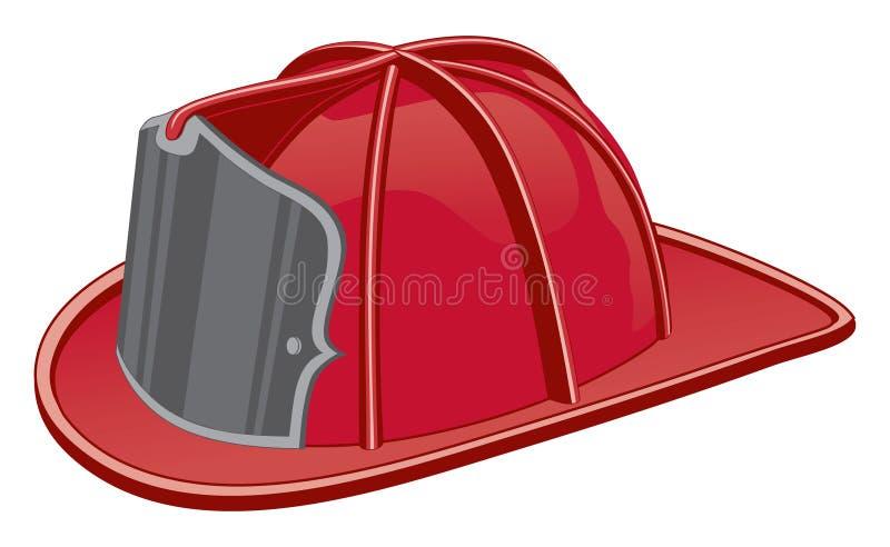 Capacete do sapador-bombeiro ilustração do vetor