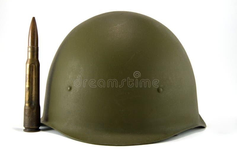 Capacete e bala do exército fotos de stock