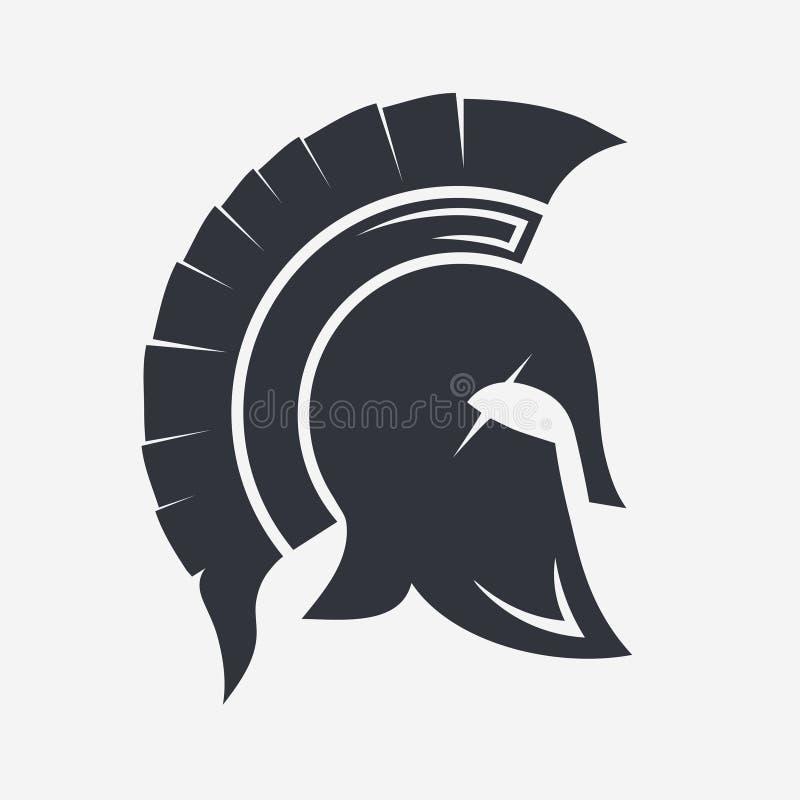 Capacete espartano do guerreiro ilustração stock