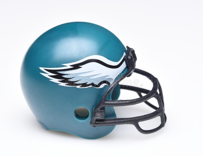 Capacete para os Philadelphia Eagles fotos de stock