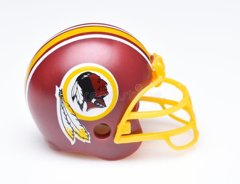 Capacete para Washington Redskins fotografia de stock