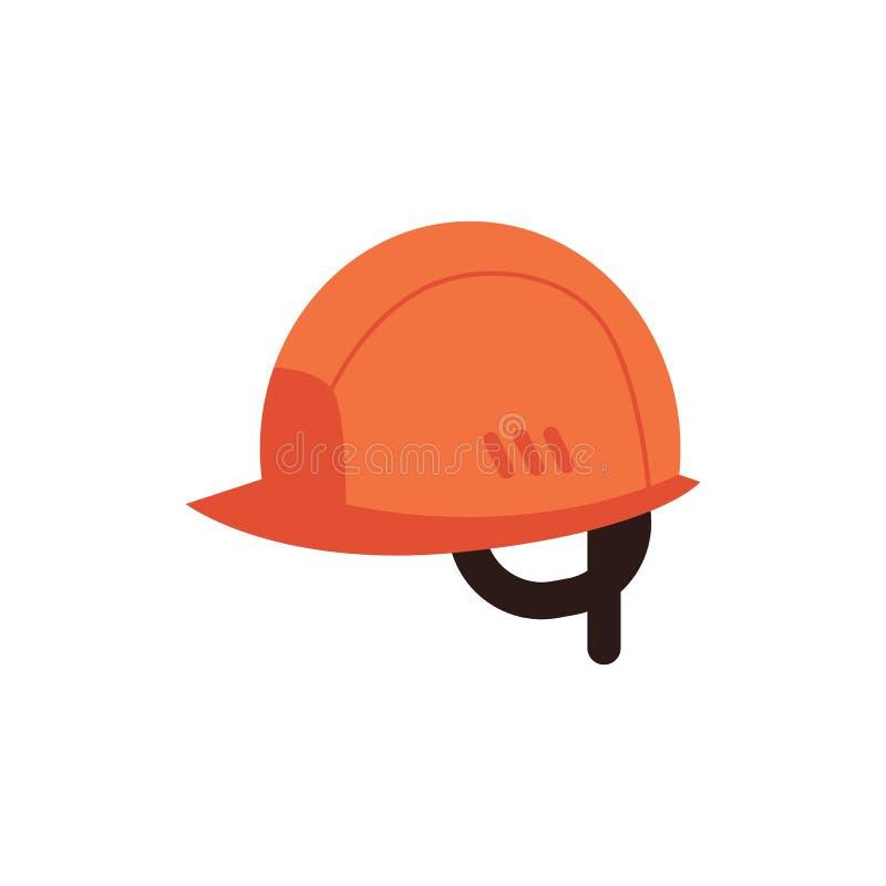 Capacete protetor do vetor para o ícone do trabalho industrial ilustração do vetor