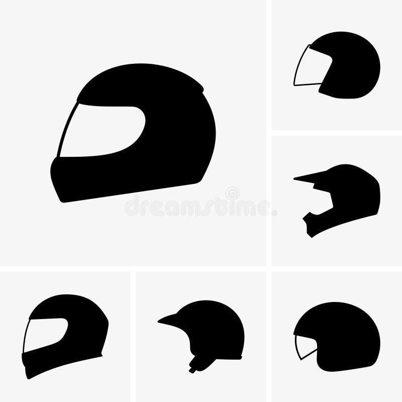 Capacetes da motocicleta ilustração royalty free