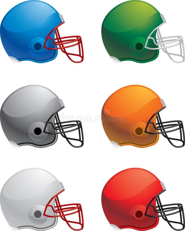 Capacetes de futebol ilustração stock