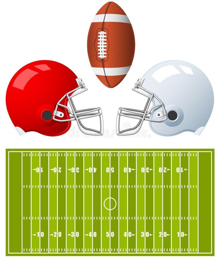 Capacetes de futebol americano ilustração stock