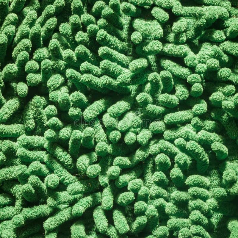 Capacho de limpeza verde dos pés fotos de stock