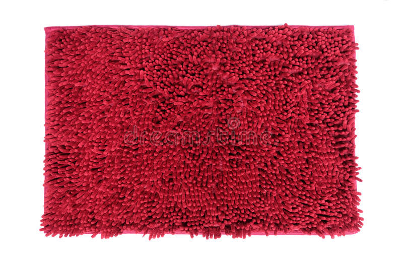 Capacho vermelho isolado no fundo branco fotografia de stock royalty free