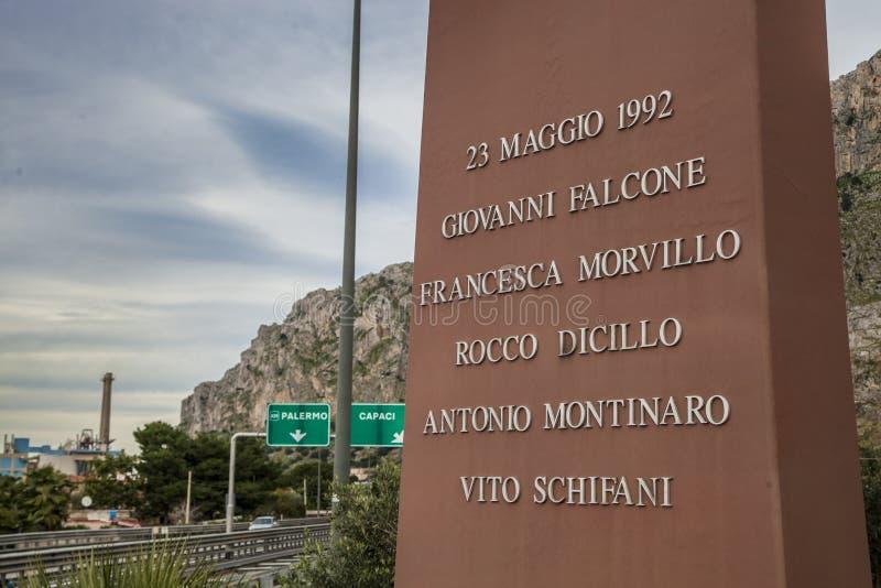 Capaci en Sicilia imagenes de archivo