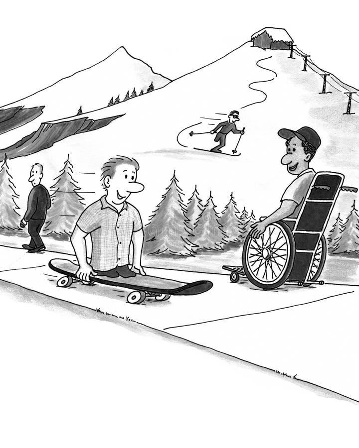 Capacité d'invalidité illustration de vecteur