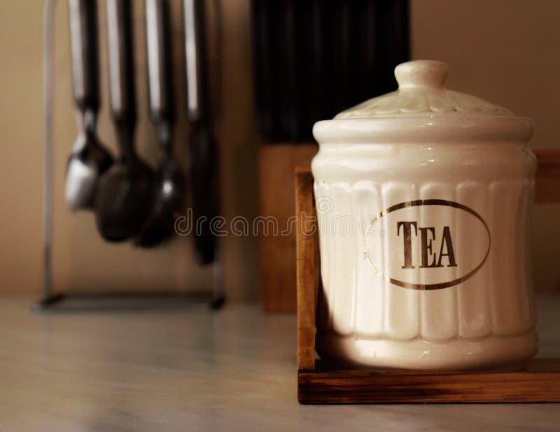 Capacité pour le thé photographie stock