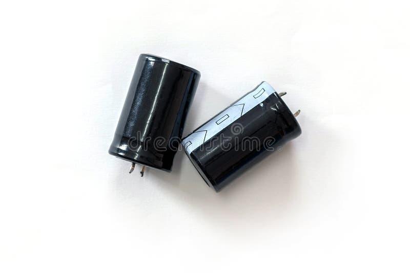 Capacitor isolated on white background. stock image