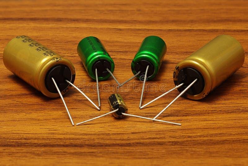 capacitores imagem de stock