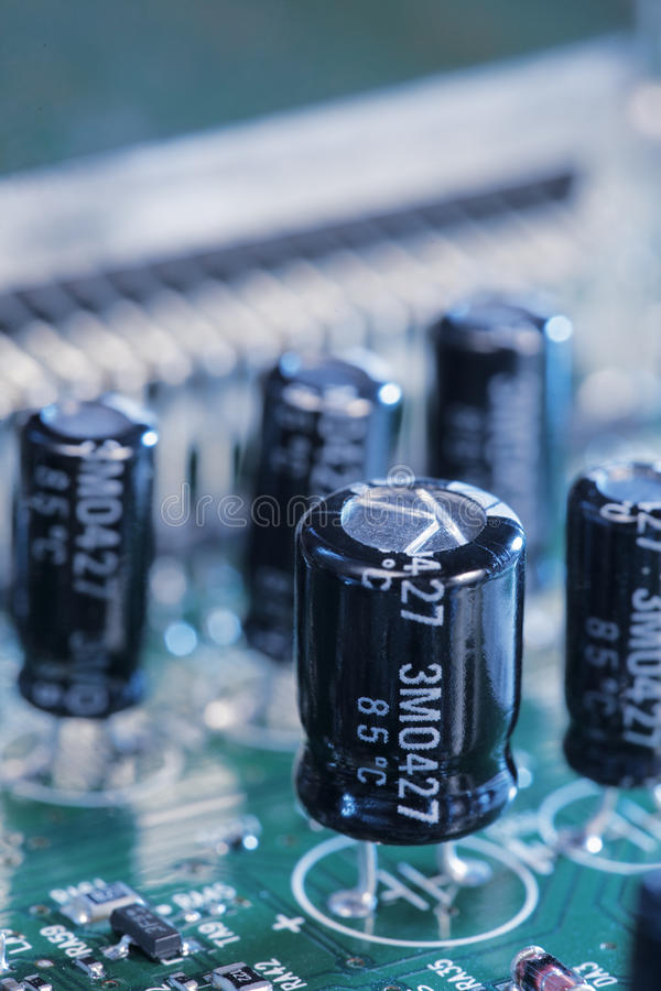 Download Capacitors stock image. Image of electronics, electricity - 11857303