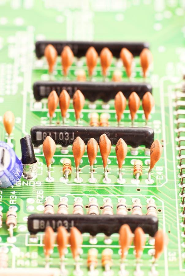 Download Capacitors stock image. Image of macro, board, equipment - 24494135