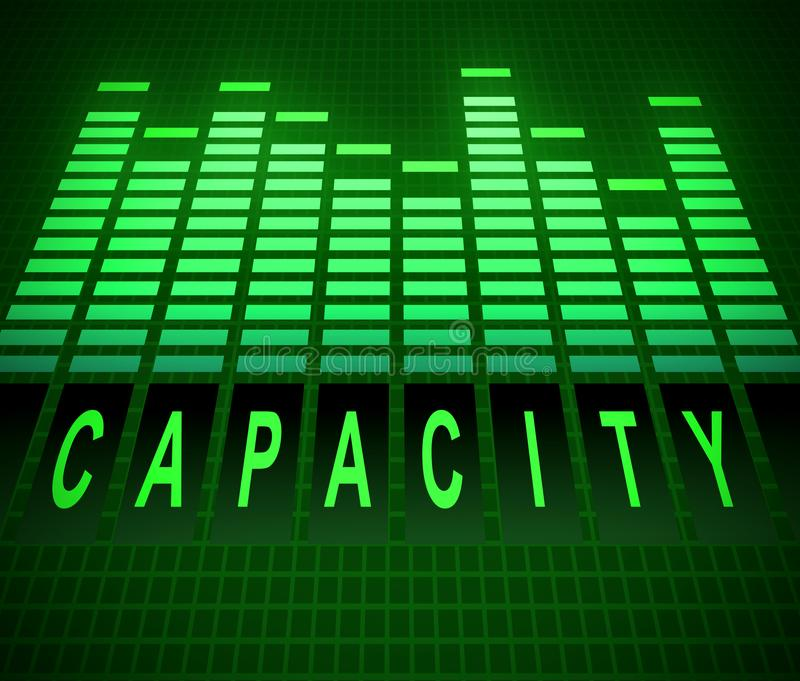 Capacity levels concept. Illustration depicting abstract green graphic equalizer levels with a capacity concept vector illustration