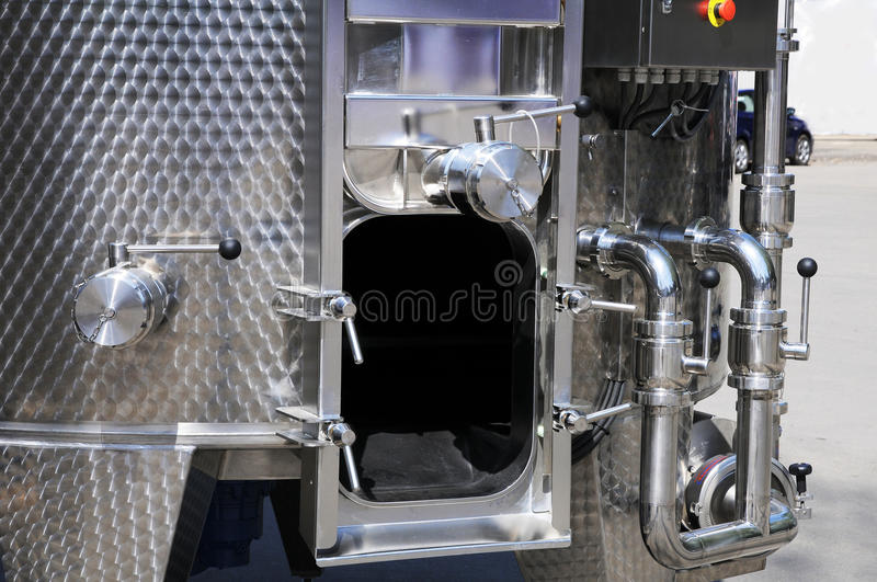 Download Capacity For Wine From Stainless Steel. Stock Image - Image of installation, stainless: 25115629