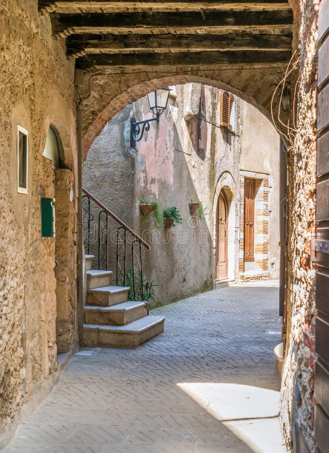 Scenic sight in Capalbio, picturesque village on the province of Grosseto. Tuscany, Italy. stock photography