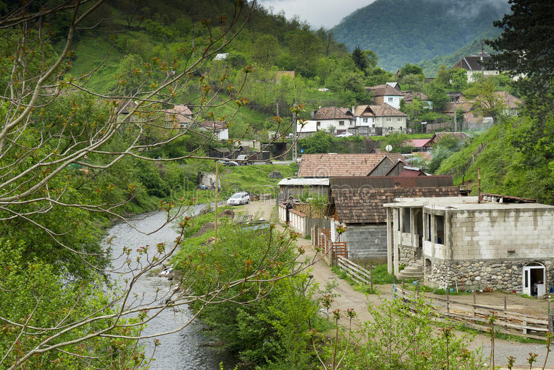 Capalna罗马尼亚村庄  免版税图库摄影