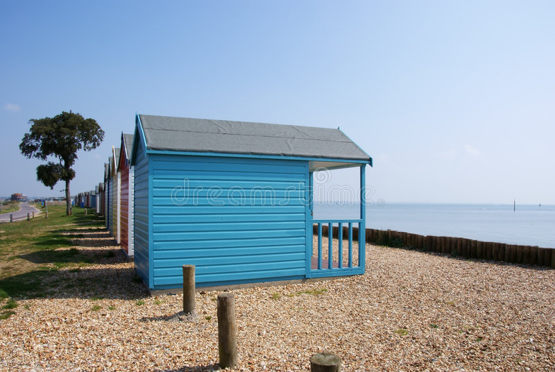 Capanna 1 della spiaggia fotografia stock libera da diritti