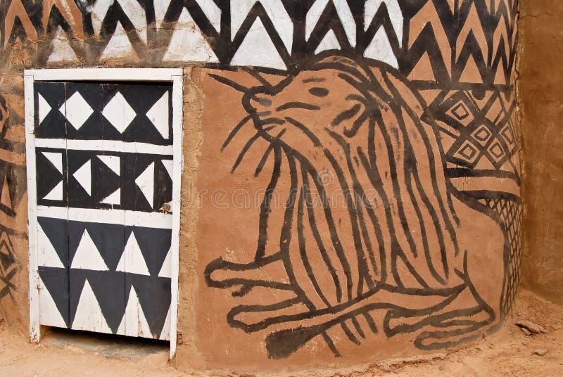Capanna africana dell'adobe immagini stock libere da diritti