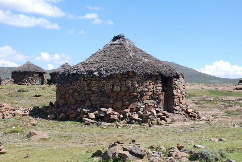 Capanna del Lesoto fotografia stock