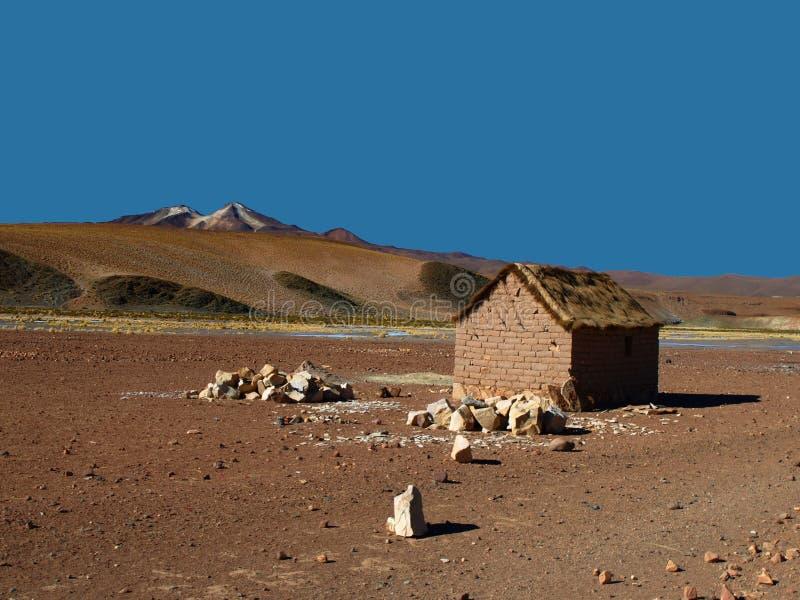 Capanna di Altiplano fotografie stock libere da diritti