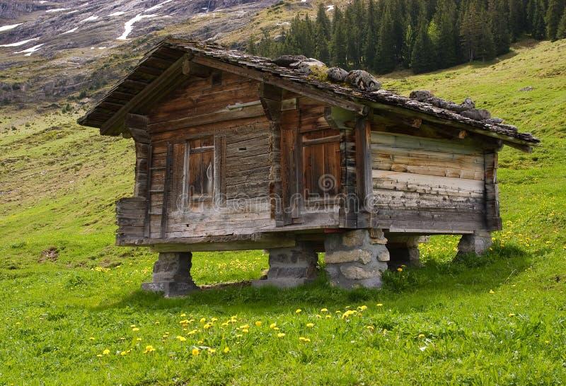 Capanna di legno della montagna fotografia stock for Baita di legno