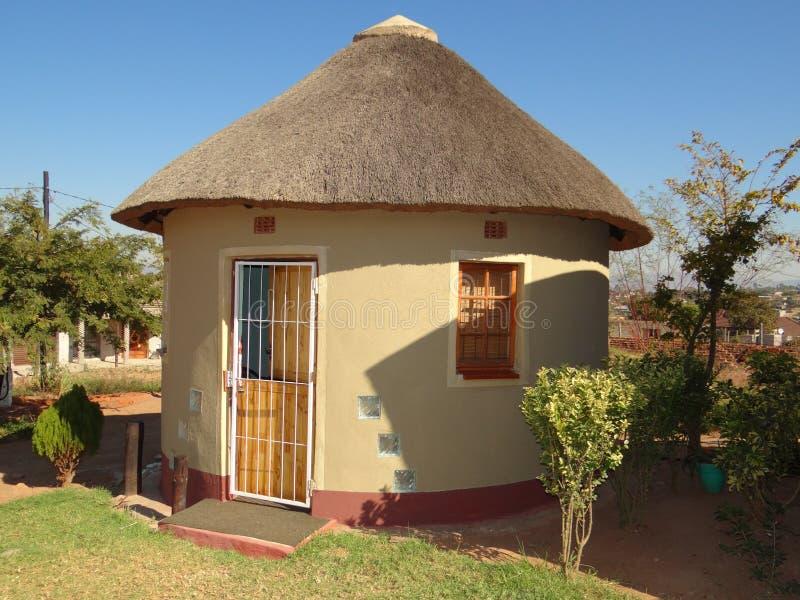 Capanna di Rondavel Africa nel Sudafrica immagini stock libere da diritti