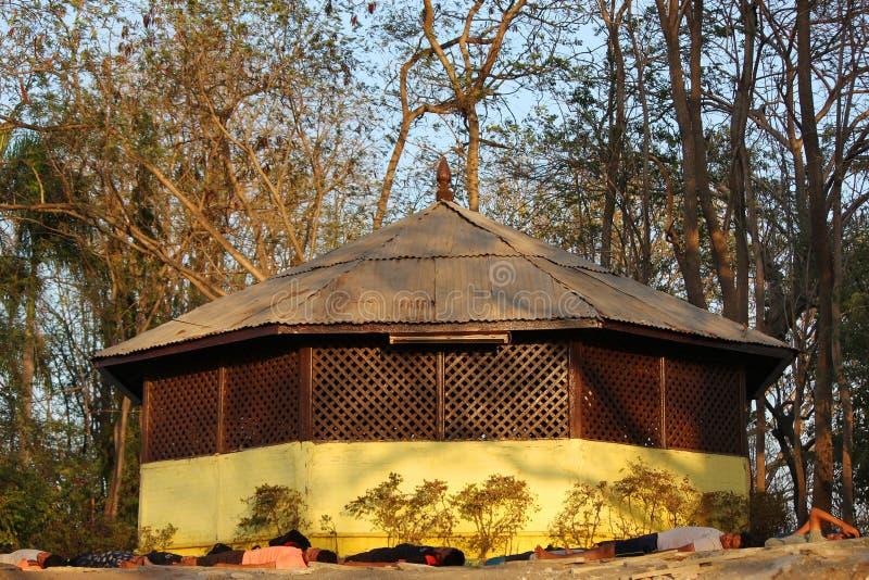 Capanna vitale del tempio di signore sul paytha di Parvati, Pune, maharashtra fotografia stock libera da diritti