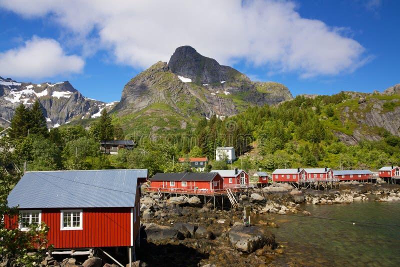 Capanne di pesca su Lofoten immagini stock