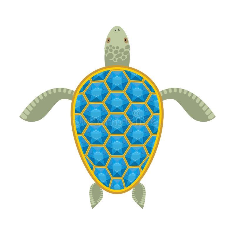 Caparazón del zafiro de la tortuga del agua libre illustration