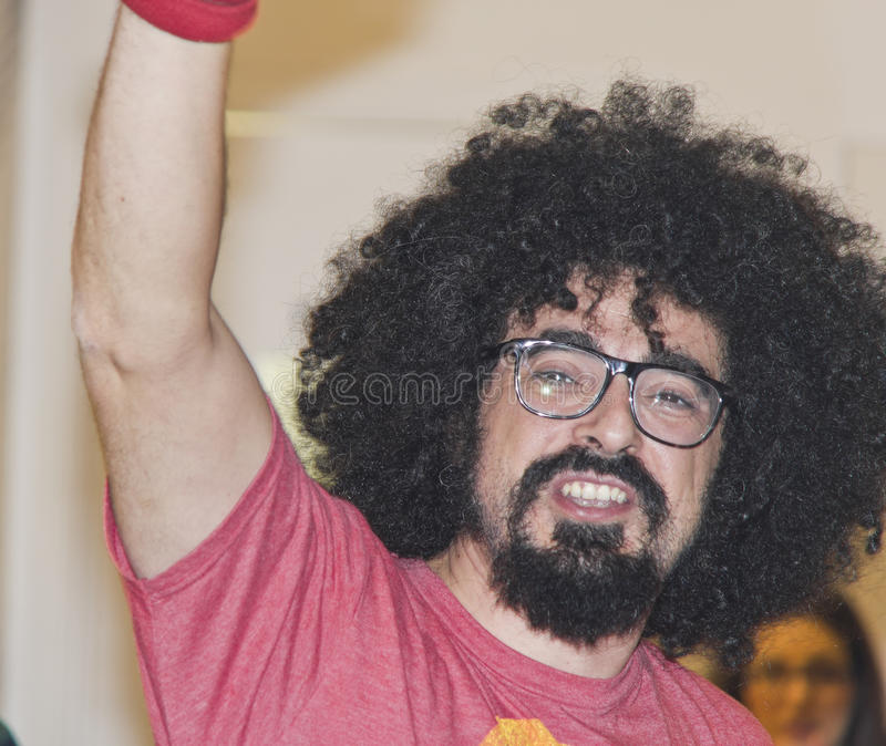 Caparezza portrait italian musician. Apulia caparezza rapper italian greetings royalty free stock image