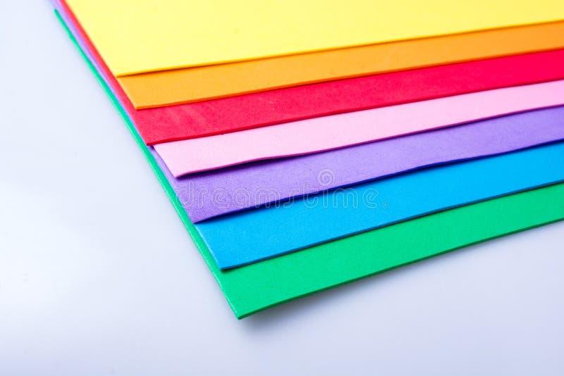 Capas coloridas del diseño material fotografía de archivo libre de regalías