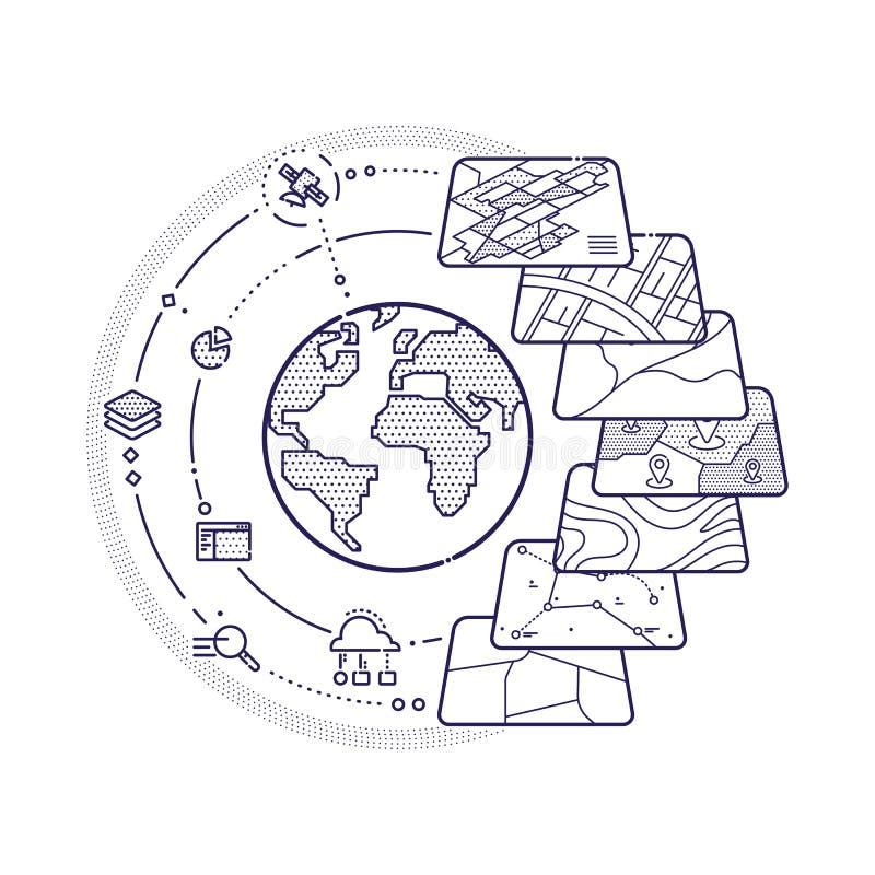 Capas de datos del concepto de los SOLDADOS ENROLLADOS EN EL EJÉRCITO para Infographic libre illustration