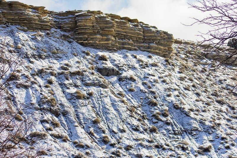Capas de invierno fotografía de archivo