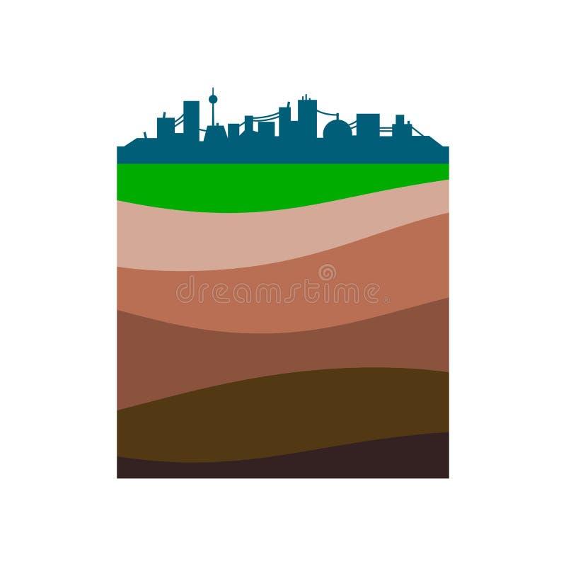 Capas de la tierra libre illustration