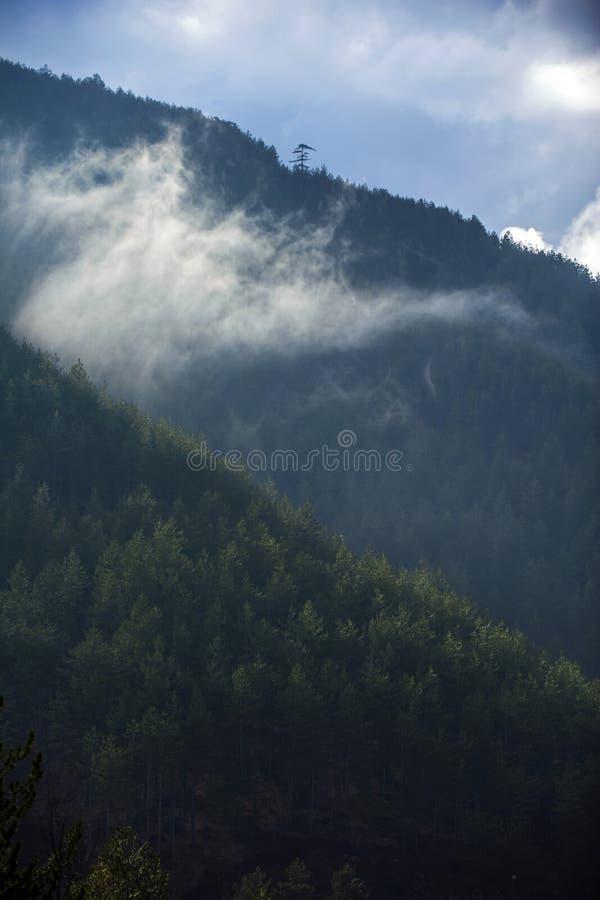 Capas de montaña foto de archivo
