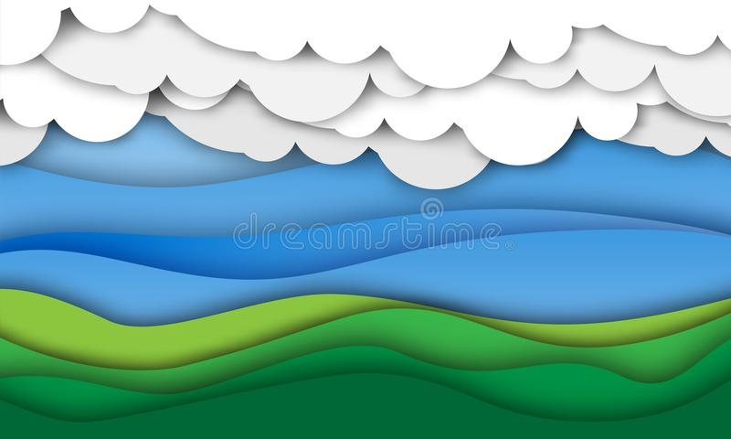 Capas de papel que imitan el fondo natural ilustración del vector