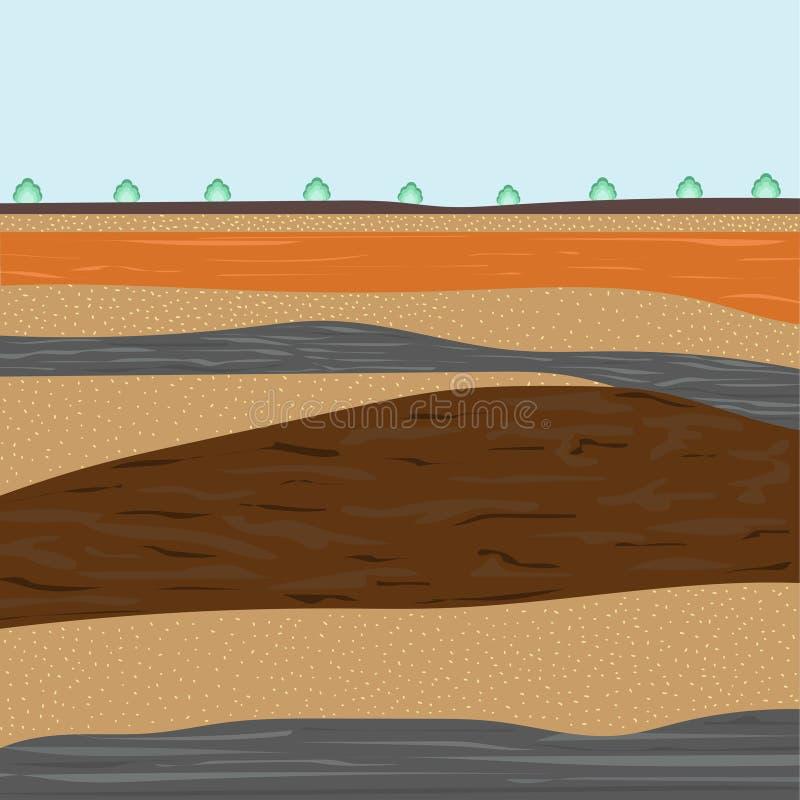 Capas de suelo para la construcción libre illustration