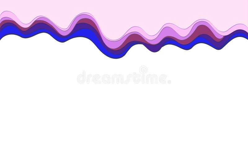 Capas multicoloras del fondo del vector del papel del efecto de moda del corte 3d libre illustration