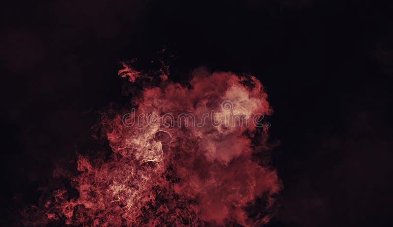 Capas rojas abstractas de la textura del humo del misterio Elemento del diseño imagen de archivo libre de regalías