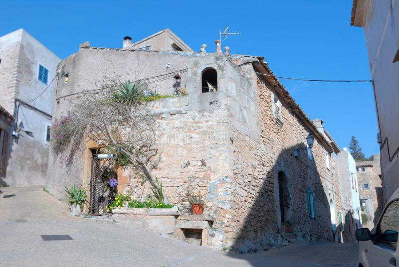 Capdepera. Village of  Mallorca, Spain stock photo