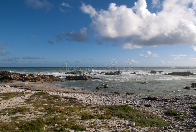Cape Agulhas, South Africa. stock images