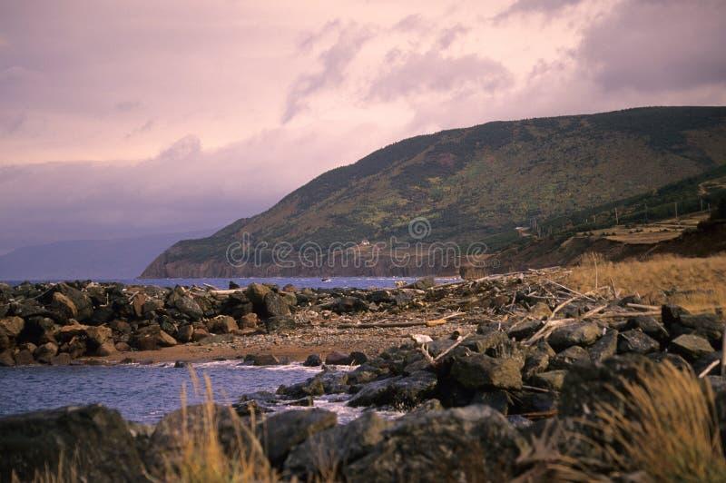 Cape Breton Highlands Sunset stock photos