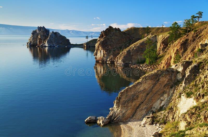 Cape Burhan on Olkhon Island at Baikal Lake stock image