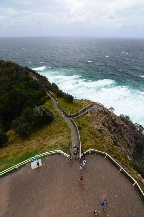 Panorama from the lighthouse. Cape Byron. New South Wales. Australia royalty free stock photography